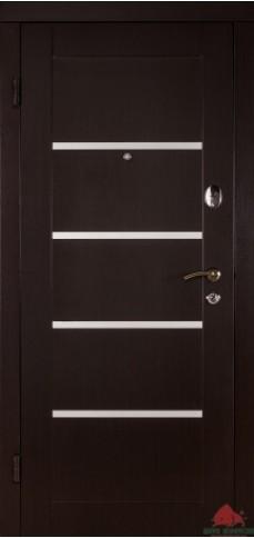 Входные двери Горизонталь венге