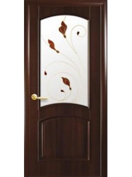 Межкомнатные двери АНТРЕ со стеклом сатин и рисунком P2