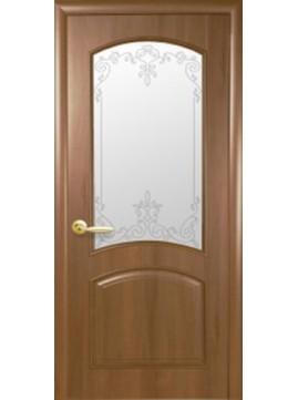 Межкомнатные двери АНТРЕ со стеклом сатин и рисунком P1