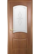 Межкомнатные двери ДОННА со стеклом сатин и рисунком