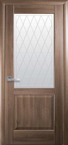 Межкомнатные двери ЕПИКА со стеклом сатин и рисунком