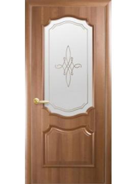 Межкомнатные двери РОКА со стеклом сатин и рисунком P1