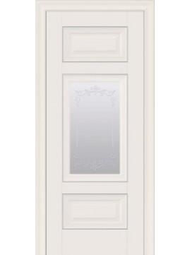 Межкомнатные двери ШАРМ со стеклом сатин, молдингом и рисунком Р2