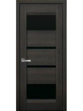 Межкомнатные двери IBIZA с черным стеклом