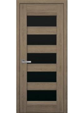 Межкомнатные двери BRONX с черным стеклом