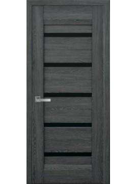 Межкомнатные двери LIRA с черным стеклом