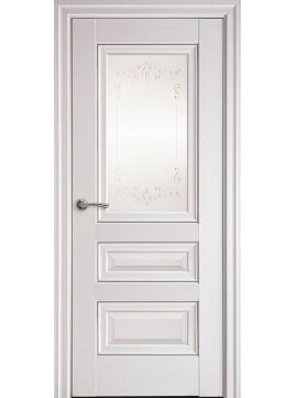 Міжкімнатні двері СТАТУС скло сатин,молдінг і малюнок Р2