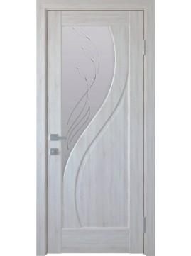 Міжкімнатні двері ПРІМА скло сатин і малюнок Р2