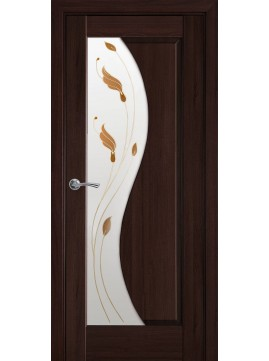 Міжкімнатні двері ЕСКАДА склом сатин і малюнок Р1