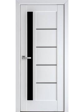 Міжкімнатні двері ГРЕТА чорне скло