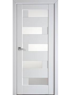Міжкімнатні двері ПІАНА скло сатин