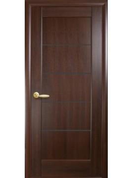 Межкомнатные двери МИРА с черным стеклом