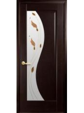 Межкомнатные двери ЭСКАДА со стеклом сатин и рисунком P2
