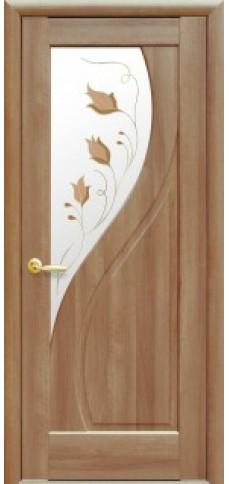 Межкомнатные двери ПРИМА со стеклом сатин и рисунком P2