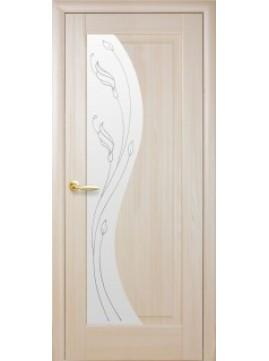Межкомнатные двери ЭСКАДА со стеклом сатин и рисунком P1