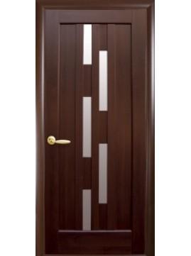 Міжкімнатні двері  ЛАУРА зі склом сатин
