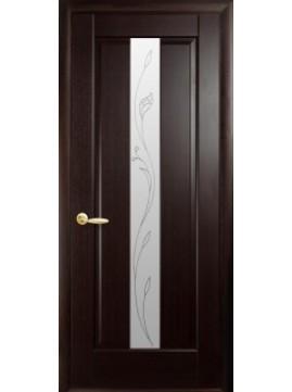 Межкомнатные двери ПРЕМЬЕРА со стеклом сатин и рисунком P1