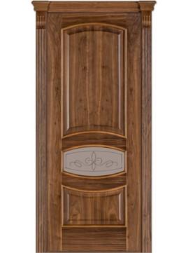 Межкомнатные двери модель 50 со стеклом орех американский