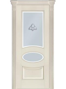 Межкомнатные двери модель 55 со стеклом Ясень Crema